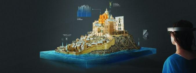 Mont Saint Michel exposition hololens